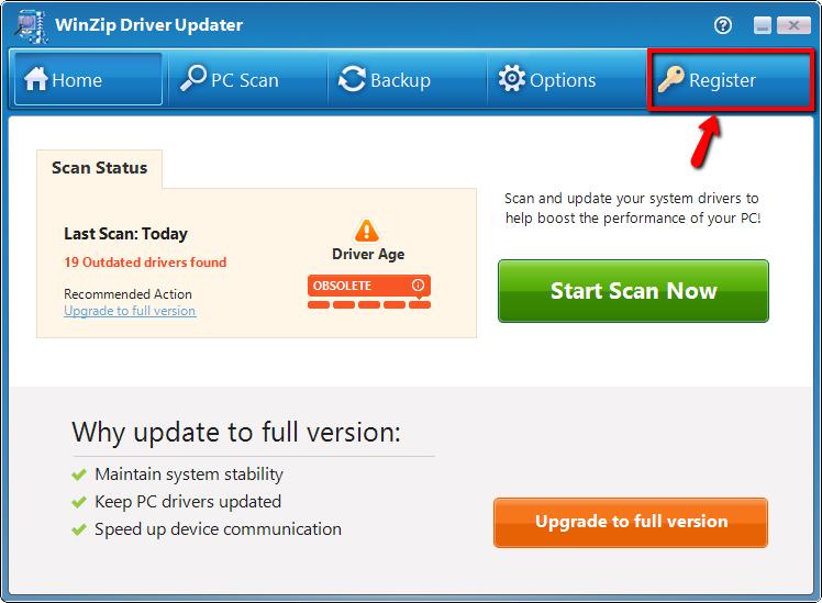slimware driver update license key