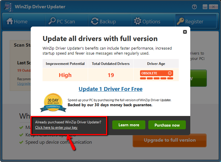 ... register Driver Updater, to download and install the driver updates