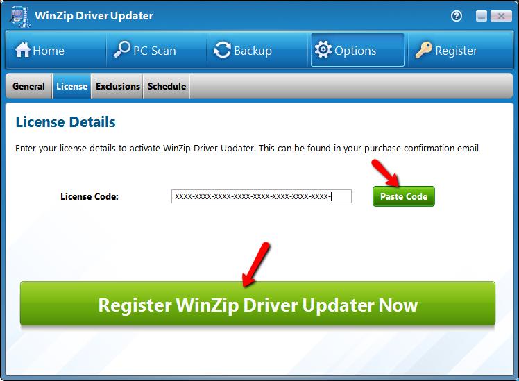 Winzip driver updater license