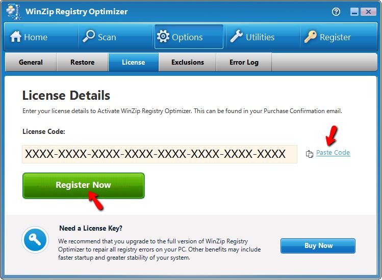 key winzip registry optimizer